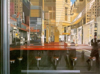 [fig.2] Richard Estes. Central Savings.1975. Oleo sobre tela. Kansas City, Nelson-Atkins Museum of Art-1